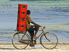 Coca Cola bicycle photo Africa distribution