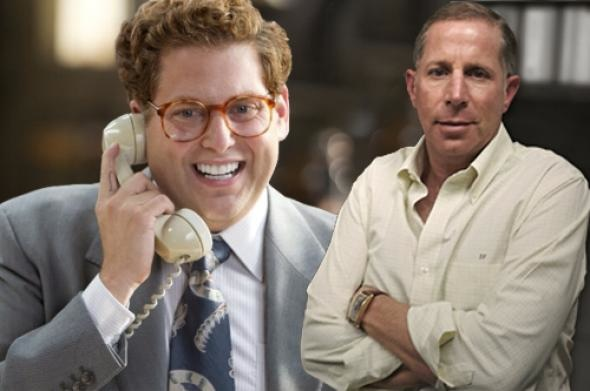 Jonah Hill in The Wolf of Wall Street, left, and Danny Porush_Wolf of Wall Street_Paramount pictures
