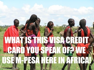 M-pesa not credit cards in Africa