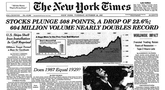 New York Times_portada crash 1987