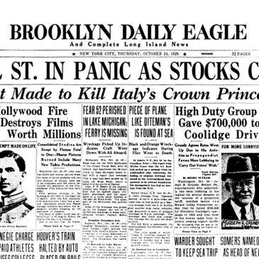 Historias imprescindibles de la bolsa: el crash de 1929